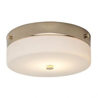 стъклен плафон, polished gold, elstead lighting, tamar, 1x7w, 3000k, 540lm, bath/tam/f/m pg