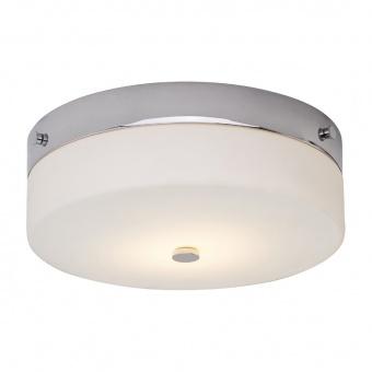 стъклен плафон, polished chrome, elstead lighting, tamar, 1x7w, 3000k, 540lm, bath/tam/f/l pc
