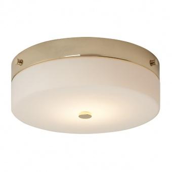 стъклен плафон, polished gold, elstead lighting, tamar, 1x7w, 3000k, 540lm, bath/tam/f/l pg