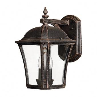 метално градинско тяло, mocha, elstead lighting, wabash, 2x40w, hk/wabash2/m
