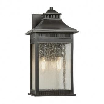 метално градинско тяло, imperial bronze, elstead lighting, livingston, 2x40w, qz/livingston2/m