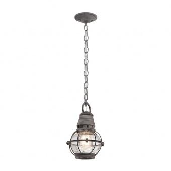метално градинско тяло, weathered zinc, elstead lighting, bridge point, 1x60w, kl/bridgepoint8s