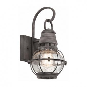 метално градинско тяло, weathered zinc, elstead lighting, bridge point, 1x60w, kl/bridgepoint/s