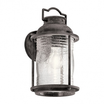метален аплик, weathered zinc, elstead lighting, ashland bay, 1x60w, kl/ashlandbay2/m