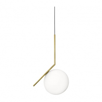 метален пендел, brushed brass, flos, ic lights, 1x13w, F3176059