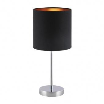 метална настолна лампа, black/gold/chrome, rabalux, monica, 1x60w, 2523