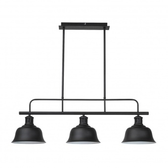 метален полилей, matte black, rabalux, caitlin, 3x60w, 2744