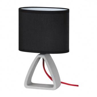 настолна лампа от бетон, black/concrete, rabalux, henry, 1x40w, 4338