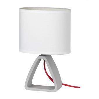 настолна лампа от бетон, white/concrete, rabalux, henry, 1x40w, 4339