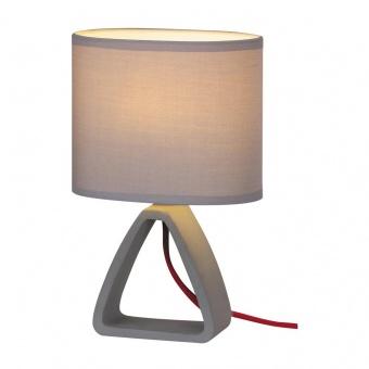 настолна лампа от бетон, grey/concrete, rabalux, henry, 1x40w, 4340