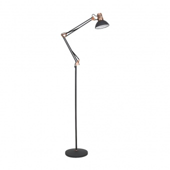 метален лампион, matte black/copper, rabalux, gareth, 1x40w, 4523