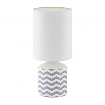 керамична настолна лампа, white pattern, rabalux, sophie, 1x40w, 4397