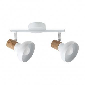 метален спот, white/beech, rabalux, holly, 2x40w, 5944