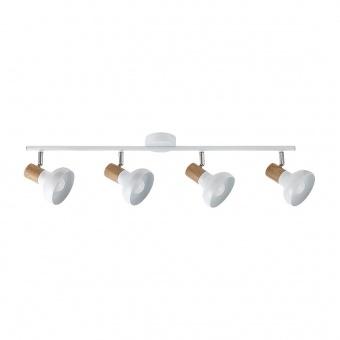 метален спот, white/beech, rabalux, holly, 4x40w, 5947