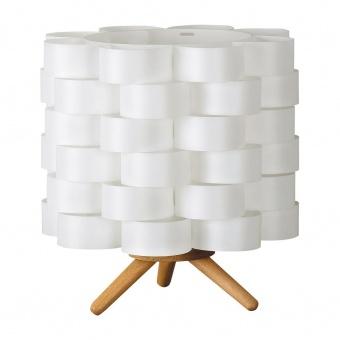 дървена настолна лампа, white, rabalux, andy, 1x40w, 4346