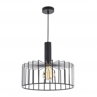 метален пендел, черен, elbulgaria, 1x40w, 1574 bk