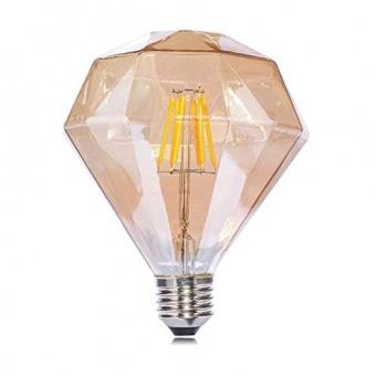 лед лампа, 6w, e27, топла светлина, diamond gold, 2700k, 520lm, 170al0025230