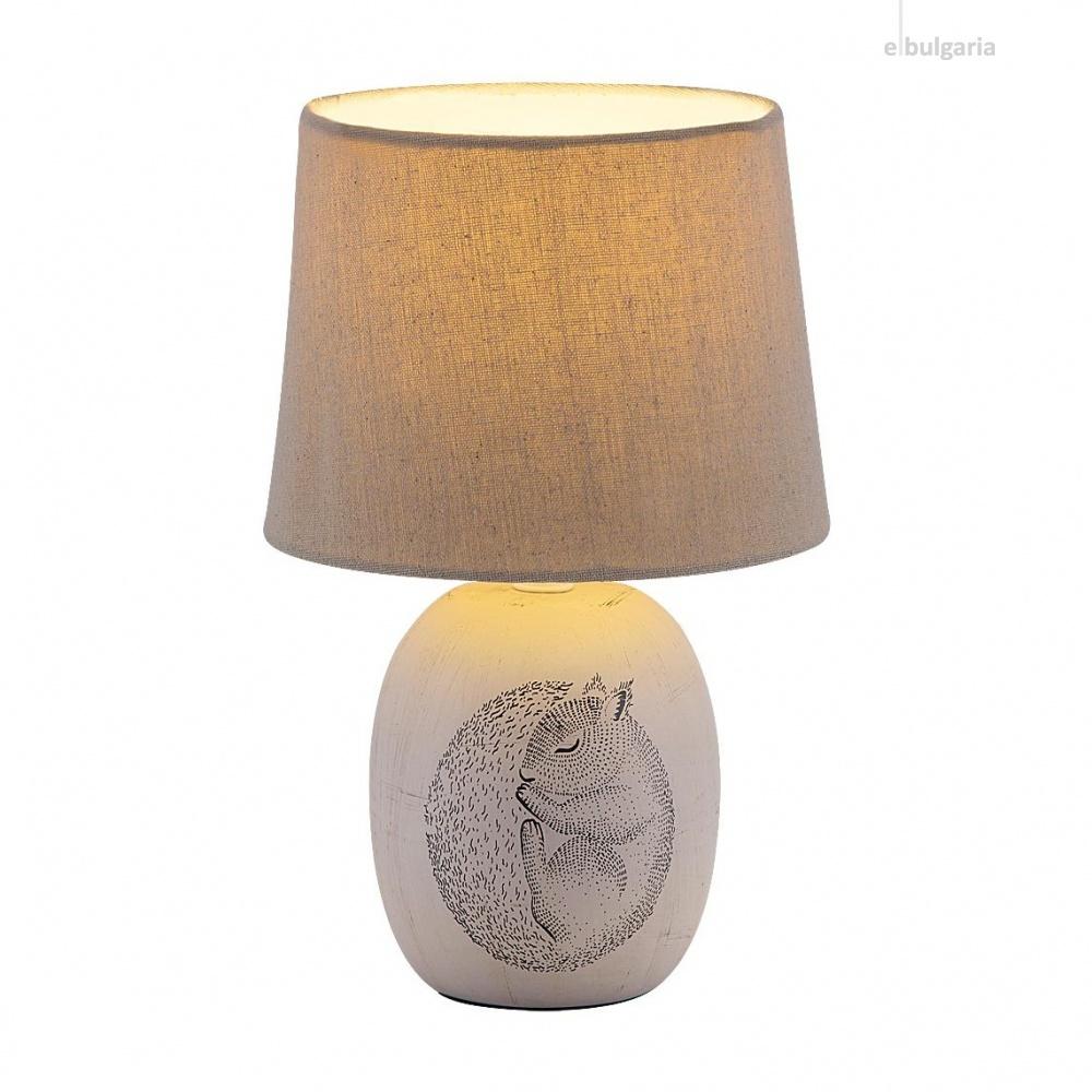 керамична настолна лампа, brown, rabalux, dorka, 1x40w, 4605