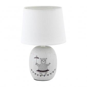 керамична настолна лампа, grey, rabalux, dorka, 1x40w, 4607