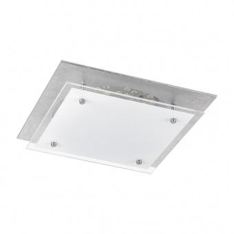 стъклен плафон, silverfoiled/white, rabalux, june, led 18w, 3000k, 1440lm, 3030