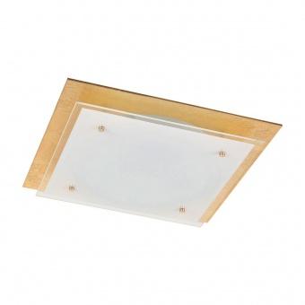 стъклен плафон, goldfoiled/white, rabalux, june, led 18w, 3000k, 1440lm, 3033