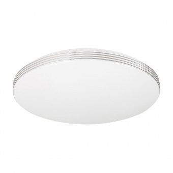 pvc плафон, white/chrome, rabalux, oscar, led 18w, 4000k, 1350lm, 2783