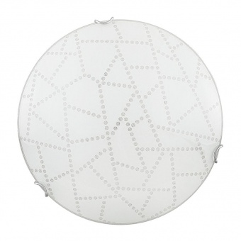 стъклен плафон, white pattern/chrome, rabalux, emory, led 12w, 3000k, 960lm, 3224