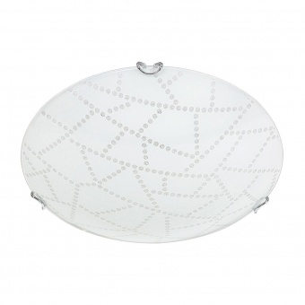 стъклен плафон, white pattern/chrome, rabalux, emory, led 18w, 3000k, 1440lm, 3226