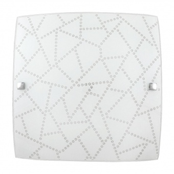 стъклен плафон, white pattern/chrome, rabalux, emory, led 12w, 3000k, 960lm, 3227