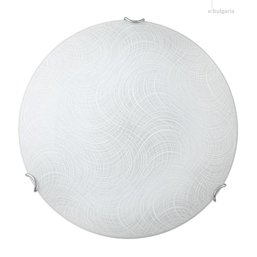 стъклен плафон, white pattern/chrome, rabalux, tanner, led 12w, 4000k, 960lm, 3230