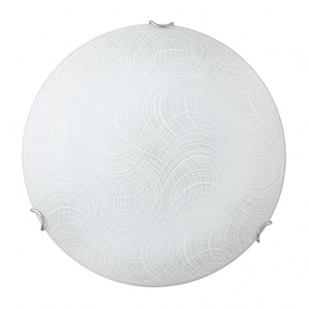 стъклен плафон, white pattern/chrome, rabalux, tanner, led 18w, 4000k, 1440lm, 3231