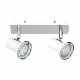 метален спот, chrome/white, rabalux, steve, led 2x4.5w, 4000k, 860lm, 5498