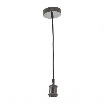 метален пендел, черен хром, elbulgaria, 1x40w, 1587 bk