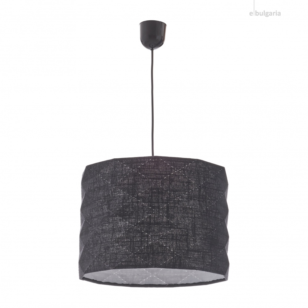 текстилен пендел, черен, elbulgaria, 1x40w, 1584l bk
