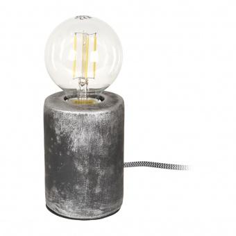 гипсова настолна лампа, черна, elbulgaria, 1x40w, 1583 sg