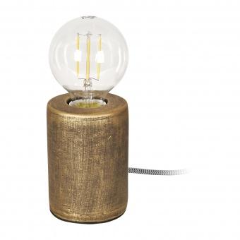 гипсова настолна лампа, бронз, elbulgaria, 1x40w, 1583 qg