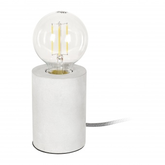 гипсова настолна лампа, сива, elbulgaria, 1x40w, 1583 gy