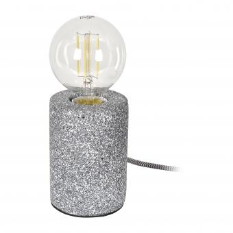 гипсова настолна лампа, тъмно сива, elbulgaria, 1x40w, 1583 gw