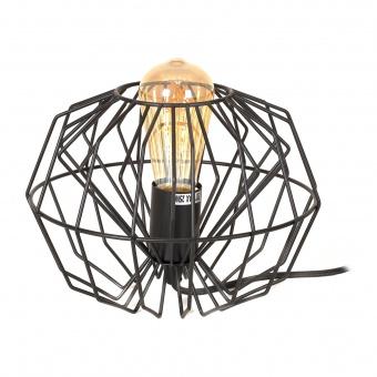 метална настолна лампа, черен, elbulgaria, 1x40w, 1569 tbk