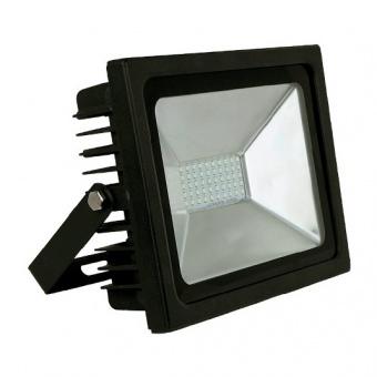 led метален прожектор, черен, record, led 50w, 4500k, 5000lm, floodlight record smd