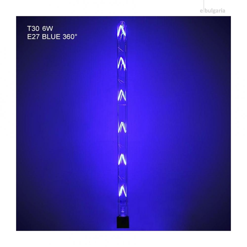 led лампа 12w, e27, blue, 1080lm, 300°, 600mm, led lamp filament 12w t30