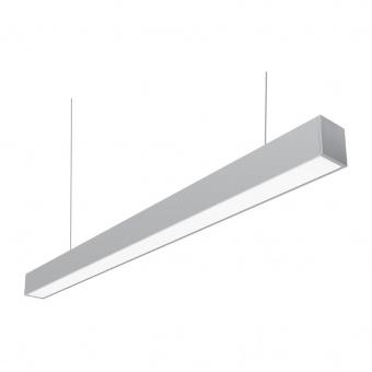 led линейно осветително тяло, sonata, grey, led 1x40w, 4000k, 4300lm, led light sonata