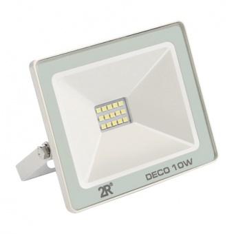 led метален прожектор, бял, deco, led 10w, 6000k, 1000lm, deco white