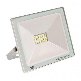 led метален прожектор, бял, deco, led 20w, 6000k, 2000lm, deco white