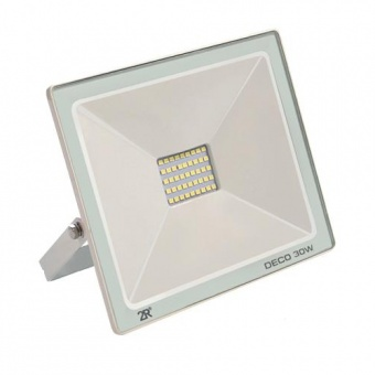 led метален прожектор, бял, deco, led 30w, 6000k, 3000lm, deco white