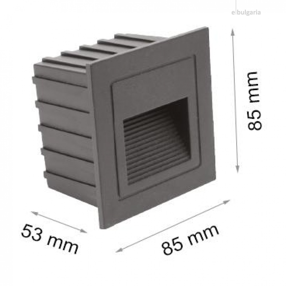 led метална луна, black, stair light, led 2w, 4000k, 160lm, ip65, stair light