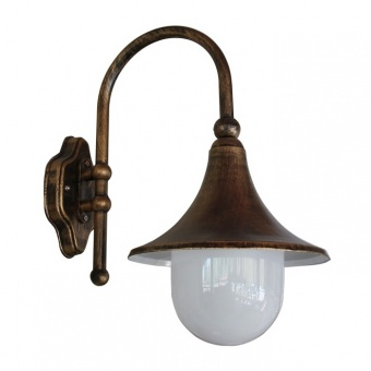метално градинско тяло, old gold, bell, 1x40w,  garden light bell