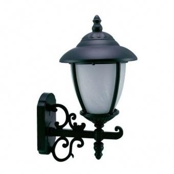 градински фенер стенен, black, cs, 1х40w, cs 01 black