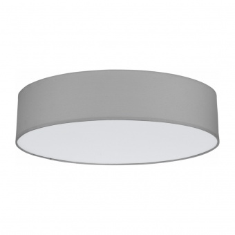 текстилен плафон, grey, tk lighting, rondo, 4x15w, 1584