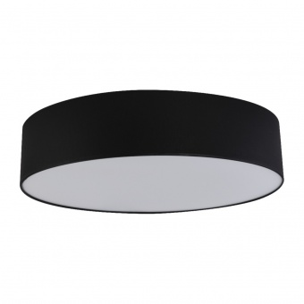 текстилен плафон, black, tk lighting, rondo, 4x15w, 1587